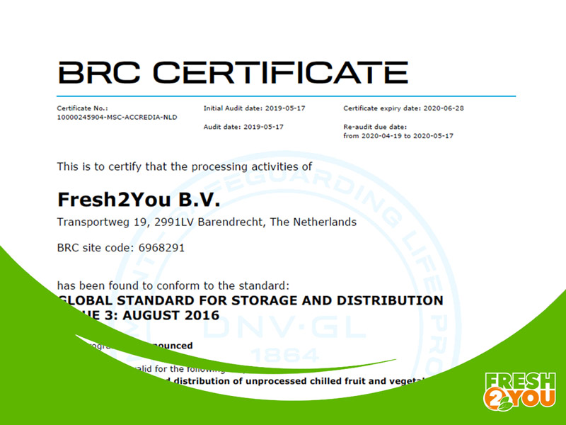WE ARE BRC-AA CERTIFIED